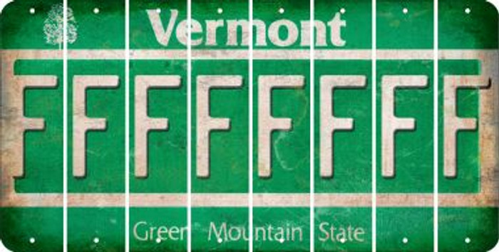 Vermont F Cut License Plate Strips (Set of 8) LPS-VT1-006
