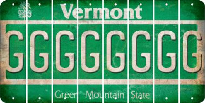 Vermont G Cut License Plate Strips (Set of 8) LPS-VT1-007