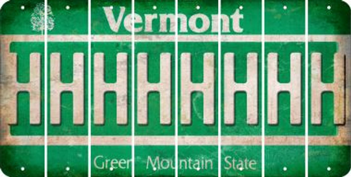Vermont H Cut License Plate Strips (Set of 8) LPS-VT1-008