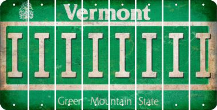 Vermont I Cut License Plate Strips (Set of 8) LPS-VT1-009