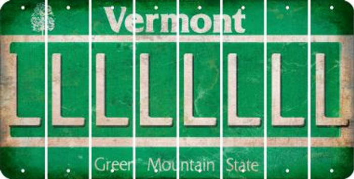 Vermont L Cut License Plate Strips (Set of 8) LPS-VT1-012
