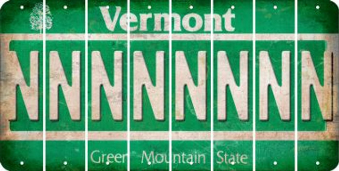 Vermont N Cut License Plate Strips (Set of 8) LPS-VT1-014
