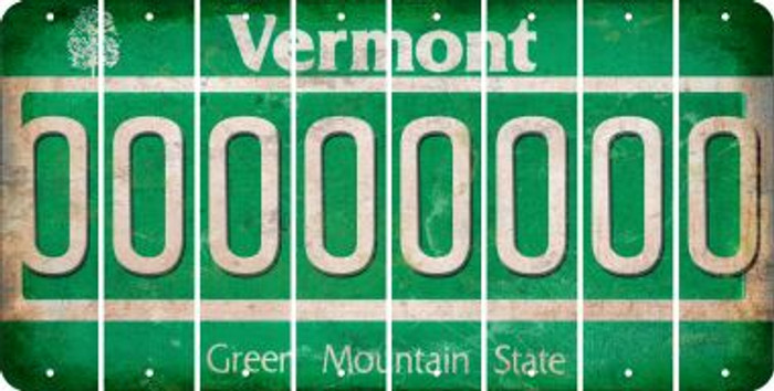Vermont O Cut License Plate Strips (Set of 8) LPS-VT1-015