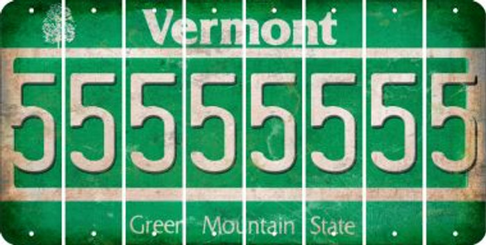 Vermont 5 Cut License Plate Strips (Set of 8) LPS-VT1-032
