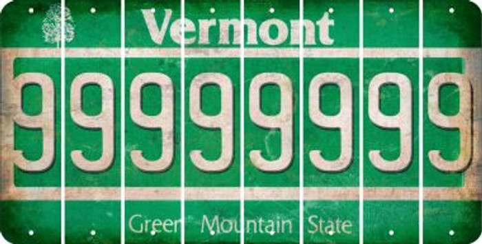 Vermont 9 Cut License Plate Strips (Set of 8) LPS-VT1-036