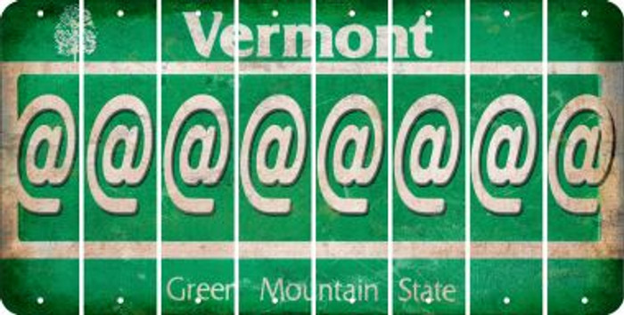 Vermont ASPERAND Cut License Plate Strips (Set of 8) LPS-VT1-039