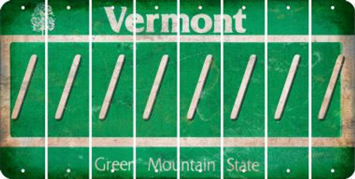 Vermont FORWARD SLASH Cut License Plate Strips (Set of 8) LPS-VT1-042