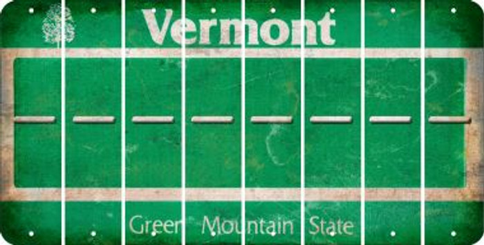 Vermont HYPHEN Cut License Plate Strips (Set of 8) LPS-VT1-044
