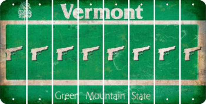 Vermont HANDGUN Cut License Plate Strips (Set of 8) LPS-VT1-051