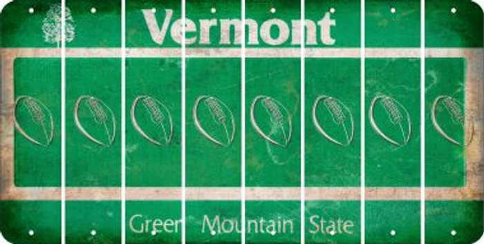 Vermont FOOTBALL Cut License Plate Strips (Set of 8) LPS-VT1-060