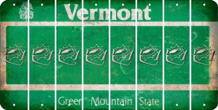 Vermont HOCKEY Cut License Plate Strips (Set of 8) LPS-VT1-062