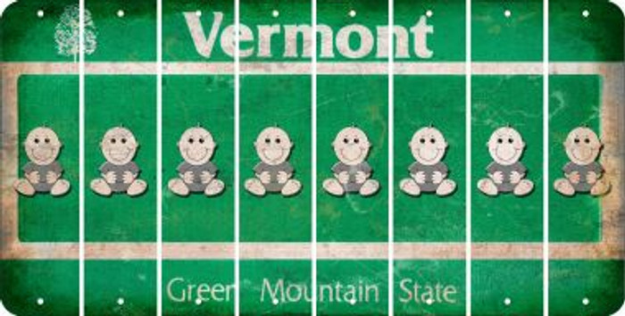 Vermont BABY BOY Cut License Plate Strips (Set of 8) LPS-VT1-066