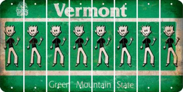 Vermont DAD Cut License Plate Strips (Set of 8) LPS-VT1-071