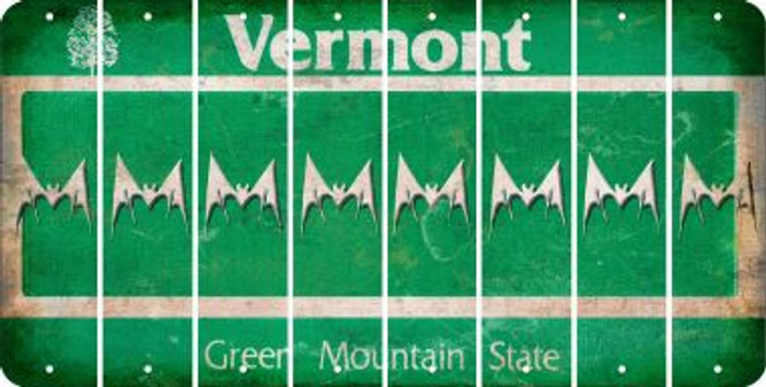 Vermont BAT Cut License Plate Strips (Set of 8) LPS-VT1-074