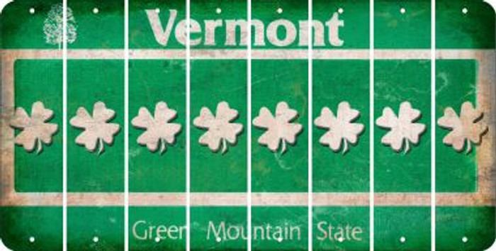 Vermont SHAMROCK Cut License Plate Strips (Set of 8) LPS-VT1-082