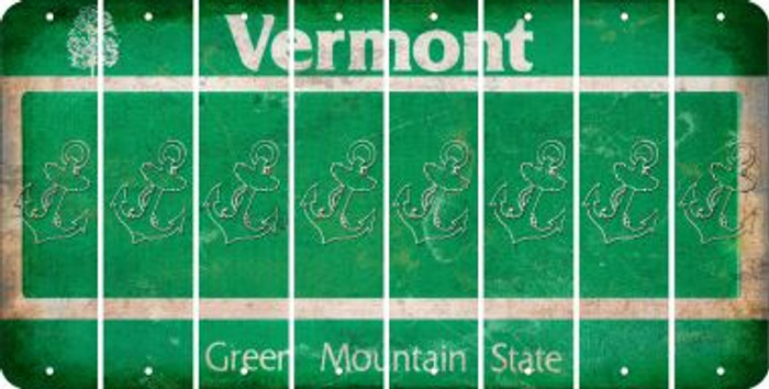 Vermont ANCHOR Cut License Plate Strips (Set of 8) LPS-VT1-093