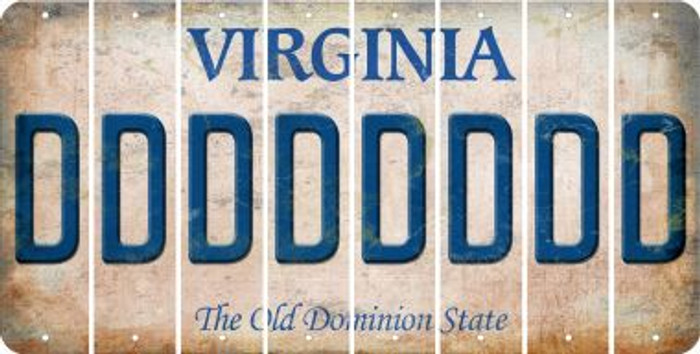 Virginia D Cut License Plate Strips (Set of 8) LPS-VA1-004