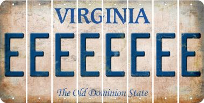 Virginia E Cut License Plate Strips (Set of 8) LPS-VA1-005