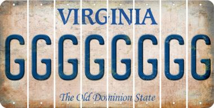 Virginia G Cut License Plate Strips (Set of 8) LPS-VA1-007