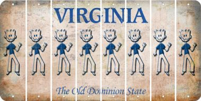 Virginia DAD Cut License Plate Strips (Set of 8) LPS-VA1-071