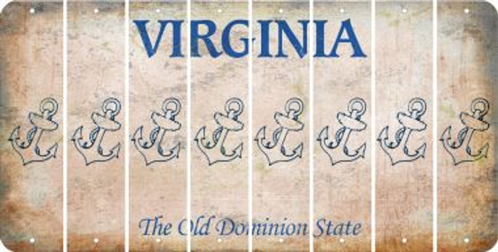 Virginia ANCHOR Cut License Plate Strips (Set of 8) LPS-VA1-093
