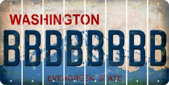 Washington B Cut License Plate Strips (Set of 8) LPS-WA1-002