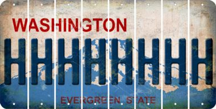 Washington H Cut License Plate Strips (Set of 8) LPS-WA1-008