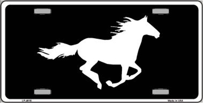 Running Horse Novelty Wholesale Metal License Plate LP-4615