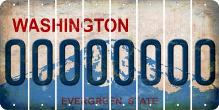Washington 0 Cut License Plate Strips (Set of 8) LPS-WA1-027