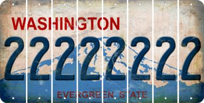 Washington 2 Cut License Plate Strips (Set of 8) LPS-WA1-029