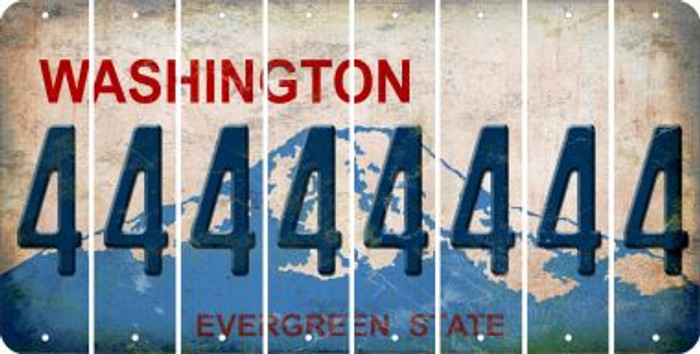 Washington 4 Cut License Plate Strips (Set of 8) LPS-WA1-031