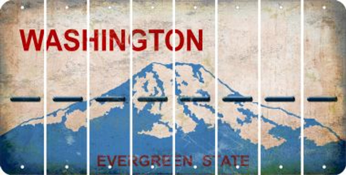Washington HYPHEN Cut License Plate Strips (Set of 8) LPS-WA1-044