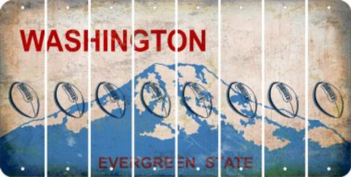 Washington FOOTBALL Cut License Plate Strips (Set of 8) LPS-WA1-060