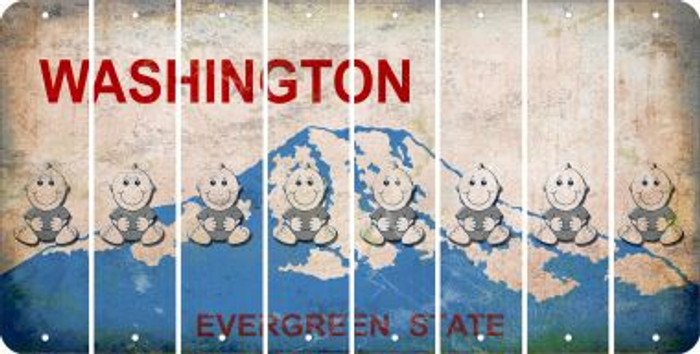 Washington BABY BOY Cut License Plate Strips (Set of 8) LPS-WA1-066