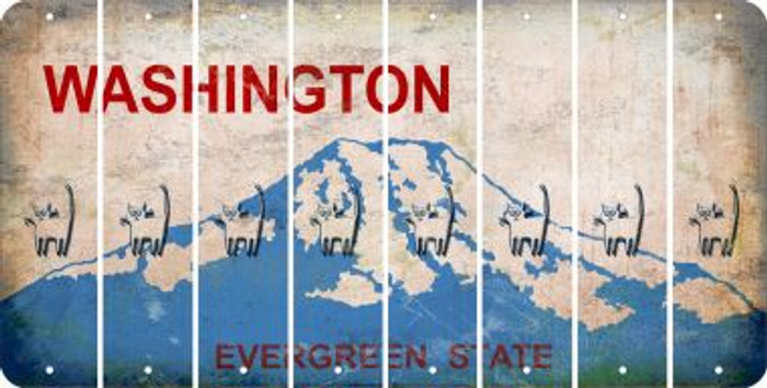 Washington CAT Cut License Plate Strips (Set of 8) LPS-WA1-072