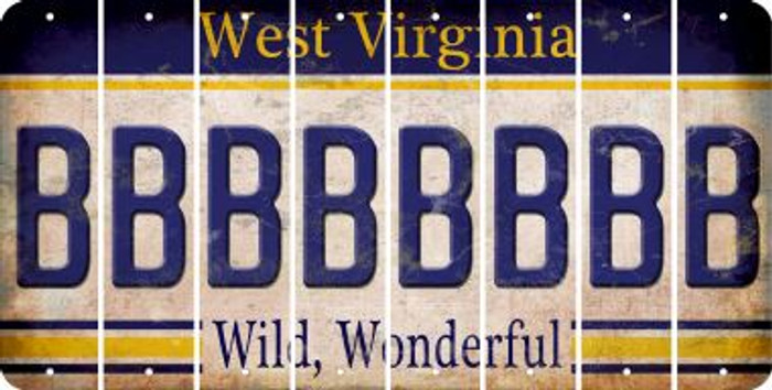 West Virginia B Cut License Plate Strips (Set of 8) LPS-WV1-002
