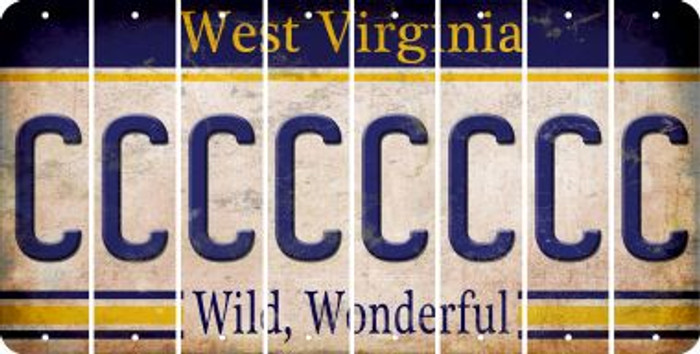 West Virginia C Cut License Plate Strips (Set of 8) LPS-WV1-003