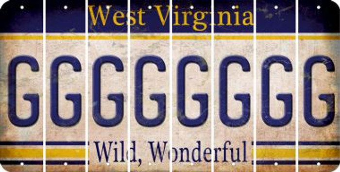 West Virginia G Cut License Plate Strips (Set of 8) LPS-WV1-007