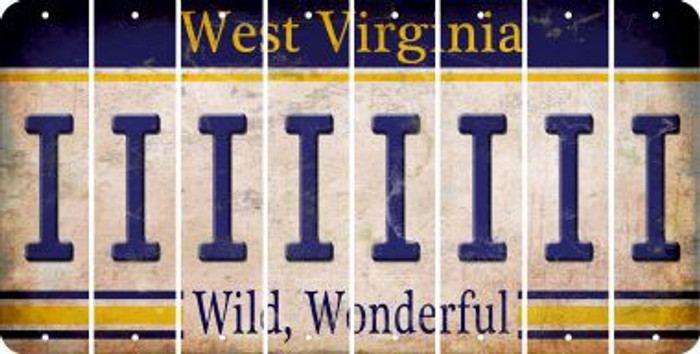 West Virginia I Cut License Plate Strips (Set of 8) LPS-WV1-009