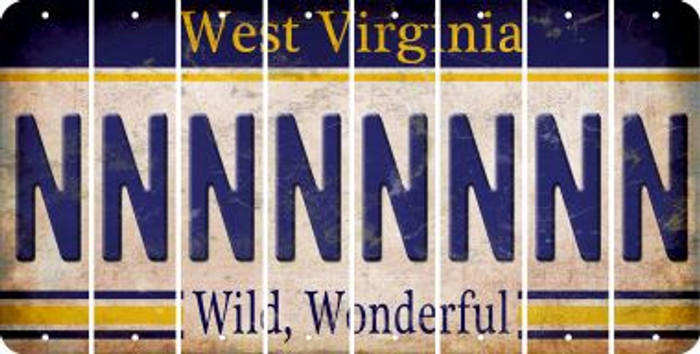 West Virginia N Cut License Plate Strips (Set of 8) LPS-WV1-014