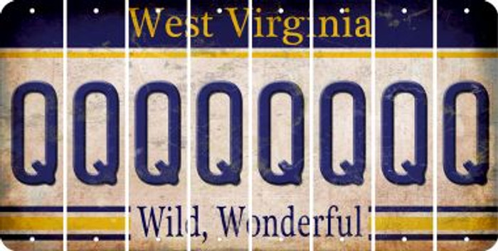 West Virginia Q Cut License Plate Strips (Set of 8) LPS-WV1-017