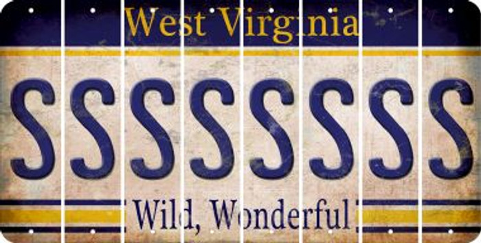 West Virginia S Cut License Plate Strips (Set of 8) LPS-WV1-019