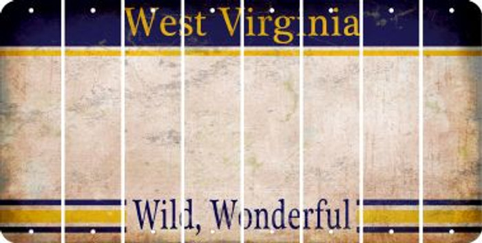 West Virginia BLANK Cut License Plate Strips (Set of 8) LPS-WV1-037