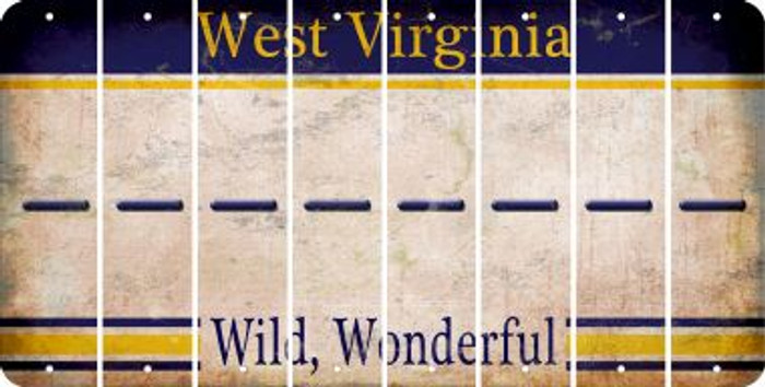 West Virginia HYPHEN Cut License Plate Strips (Set of 8) LPS-WV1-044