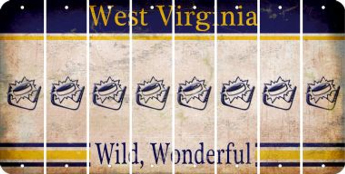 West Virginia HOCKEY Cut License Plate Strips (Set of 8) LPS-WV1-062