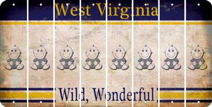 West Virginia BABY BOY Cut License Plate Strips (Set of 8) LPS-WV1-066