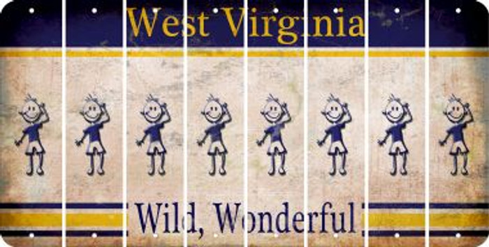 West Virginia TEEN BOY Cut License Plate Strips (Set of 8) LPS-WV1-068