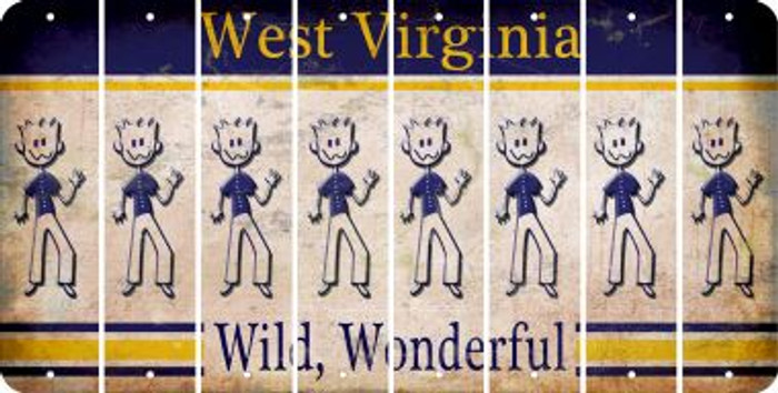 West Virginia DAD Cut License Plate Strips (Set of 8) LPS-WV1-071
