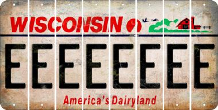Wisconsin E Cut License Plate Strips (Set of 8) LPS-WI1-005