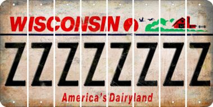 Wisconsin Z Cut License Plate Strips (Set of 8) LPS-WI1-026